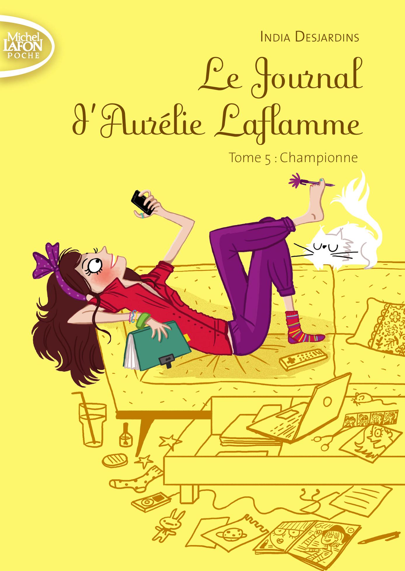 Le Journal d'Aurélie Laflamme Tome 5 : Championne – POCHE